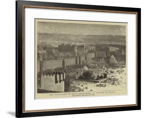 The Pilgrimage to Mecca, Encampment of Pilgrims at Medina--Framed Art Print