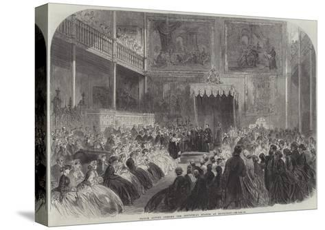 Prince Alfred Opening the Industrial Museum at Edinburgh--Stretched Canvas Print
