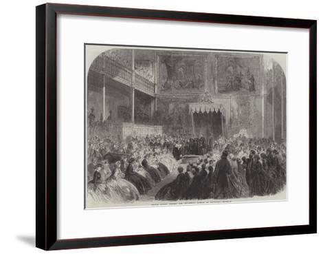Prince Alfred Opening the Industrial Museum at Edinburgh--Framed Art Print