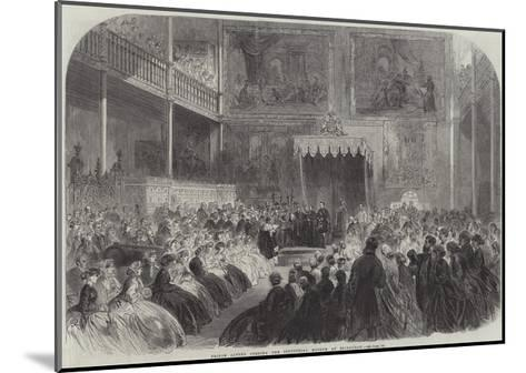 Prince Alfred Opening the Industrial Museum at Edinburgh--Mounted Giclee Print
