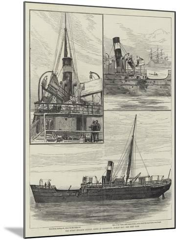 The Burnt Steamer Solway, Lying at Kingstown, Dublin Bay--Mounted Giclee Print