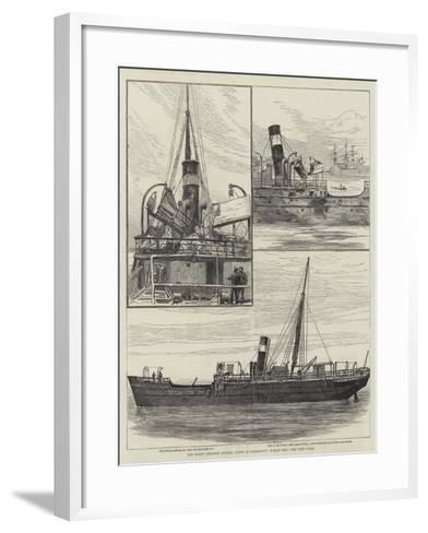 The Burnt Steamer Solway, Lying at Kingstown, Dublin Bay--Framed Art Print