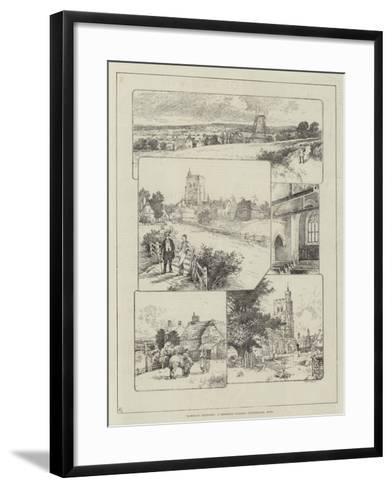 Rambling Sketches, a Deserted Village, Wittersham, Kent--Framed Art Print