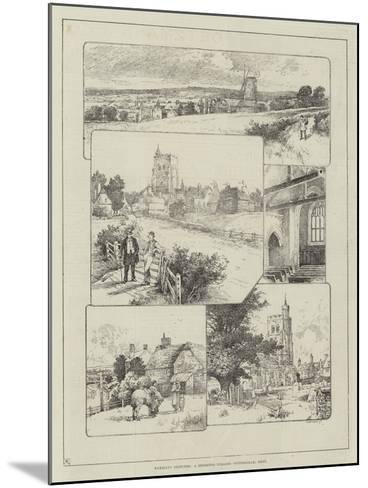 Rambling Sketches, a Deserted Village, Wittersham, Kent--Mounted Giclee Print
