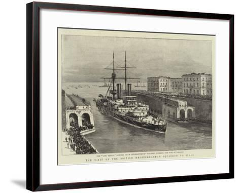 The Visit of the British Mediterranean Squadron to Italy--Framed Art Print