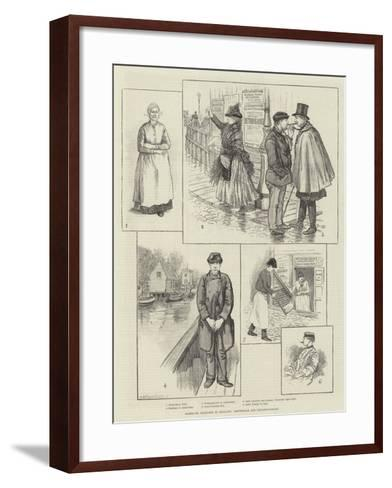 Rambling Sketches in Holland, Amsterdam and Neighbourhood--Framed Art Print