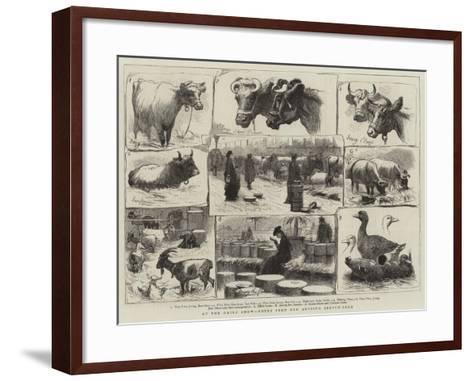 At the Dairy Show, Notes from Our Artist's Sketch-Book--Framed Art Print