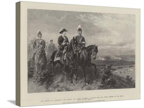 Queen Victoria Attending a Review with the Prince Consort--Stretched Canvas Print