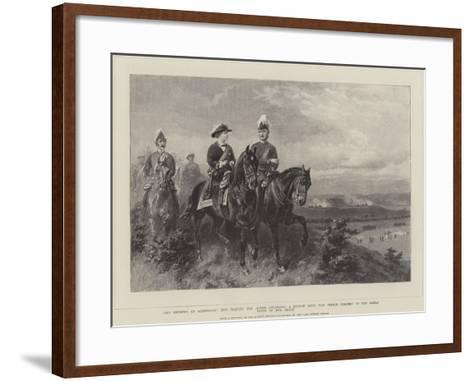 Queen Victoria Attending a Review with the Prince Consort--Framed Art Print