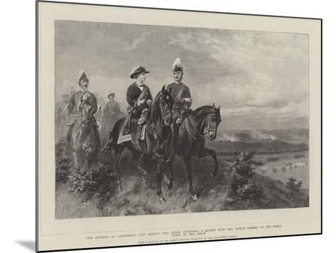 Queen Victoria Attending a Review with the Prince Consort--Mounted Giclee Print