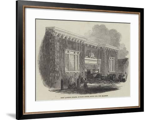New Landing Place, at East Cowes, Built for Her Majesty--Framed Art Print