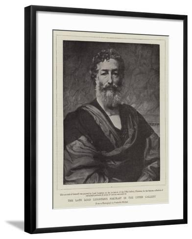 The Late Lord Leighton's Portrait in the Uffizi Gallery--Framed Art Print