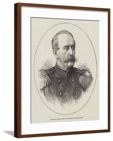 Count Schouvaloff, Russian Ambassador to Great Britain--Framed Art Print