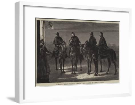 Patrol, a Truant Soldier's Terror, Any Soldier in Here?--Framed Art Print