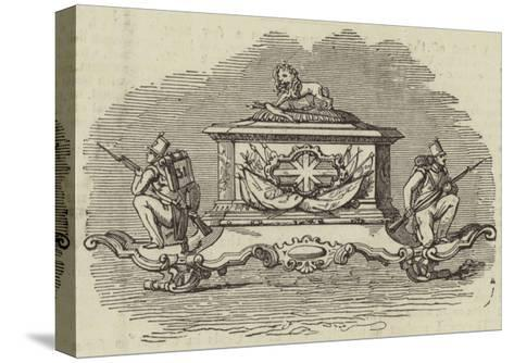 Silver Inkstand, Presented to Lieutenant-Colonel Spence--Stretched Canvas Print