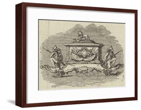 Silver Inkstand, Presented to Lieutenant-Colonel Spence--Framed Art Print