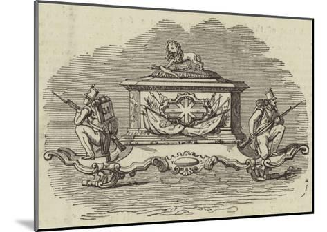 Silver Inkstand, Presented to Lieutenant-Colonel Spence--Mounted Giclee Print