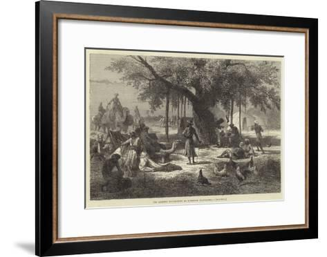 The Evening Encampment of European Travellers, Rajpoor--Framed Art Print
