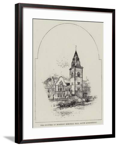 The Countess of Rosebery Memorial Hall, South Queensferry--Framed Art Print