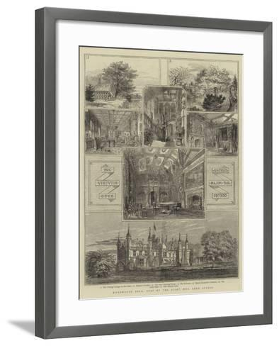 Knebworth Park, Seat of the Right Honourable Lord Lytton--Framed Art Print