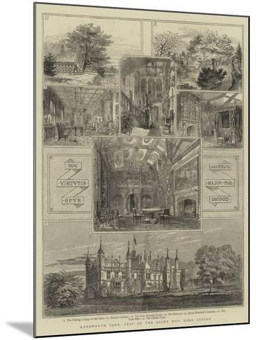 Knebworth Park, Seat of the Right Honourable Lord Lytton--Mounted Giclee Print