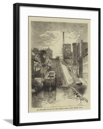 An Inclined Plane on the Morris Canal, New Jersey, USA--Framed Art Print