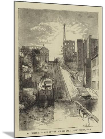 An Inclined Plane on the Morris Canal, New Jersey, USA--Mounted Giclee Print