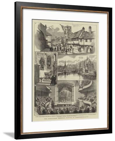 The Shakespeare Memorial Festival at Stratford-On-Avon--Framed Art Print