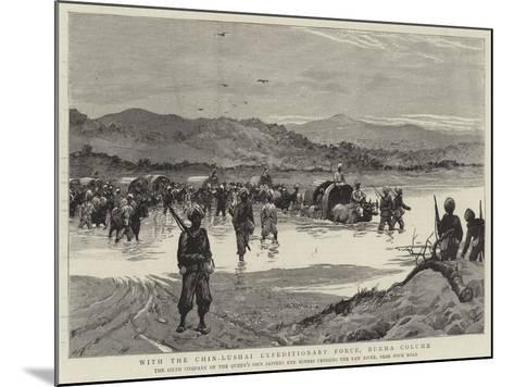 With the Chin-Lushai Expeditionary Force, Burma Column--Mounted Giclee Print
