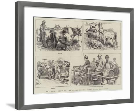 The Dairy Show at the Royal Agricultural Hall, Islington--Framed Art Print
