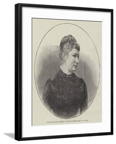 The New German Empress, Victoria Augusta, Queen of Prussia--Framed Art Print