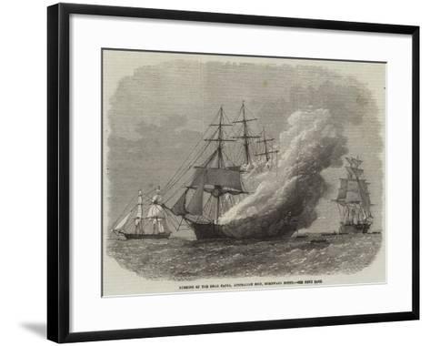 Burning of the Omar Pacha, Australian Ship, Homeward Bound--Framed Art Print