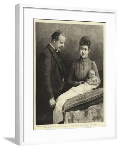 The Lady Alexandra Duff, and the Duke and Duchess of Fife--Framed Art Print