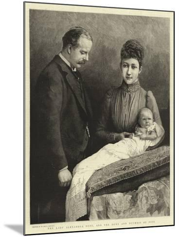 The Lady Alexandra Duff, and the Duke and Duchess of Fife--Mounted Giclee Print