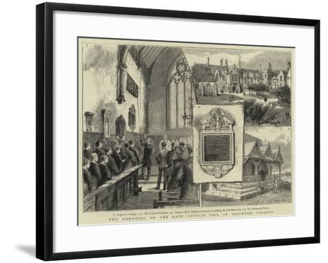 The Memorial to the Late Captain Gill at Brighton College--Framed Art Print