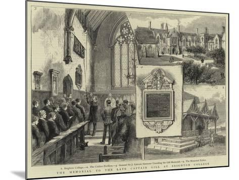 The Memorial to the Late Captain Gill at Brighton College--Mounted Giclee Print