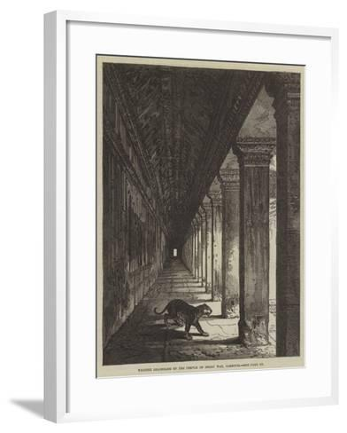 Western Colonnade of the Temple of Ongou Wat, Cambodia--Framed Art Print