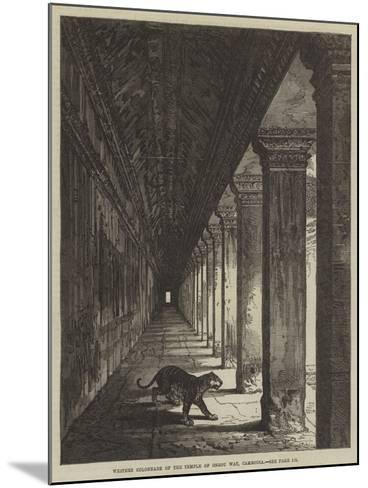 Western Colonnade of the Temple of Ongou Wat, Cambodia--Mounted Giclee Print