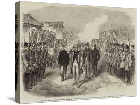 Landing of Sir Rutherford Alcock, Kcb, at Yokohama, Japan--Stretched Canvas Print