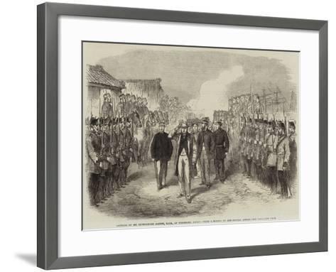 Landing of Sir Rutherford Alcock, Kcb, at Yokohama, Japan--Framed Art Print