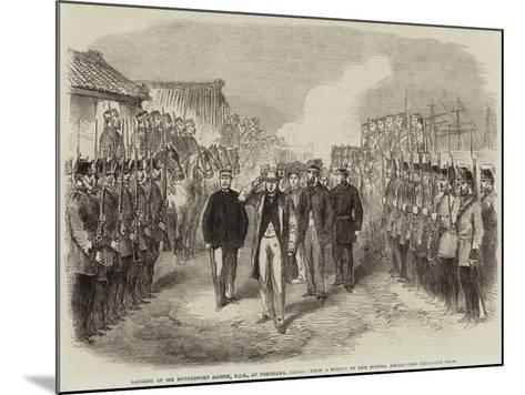 Landing of Sir Rutherford Alcock, Kcb, at Yokohama, Japan--Mounted Giclee Print
