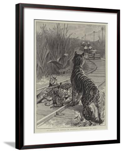 An Unexpected Danger, an Engineer's Predicament in India--Framed Art Print