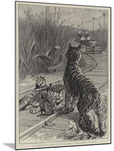 An Unexpected Danger, an Engineer's Predicament in India--Mounted Giclee Print
