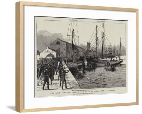 The Riot Between French and English Fishermen at Ostend--Framed Art Print