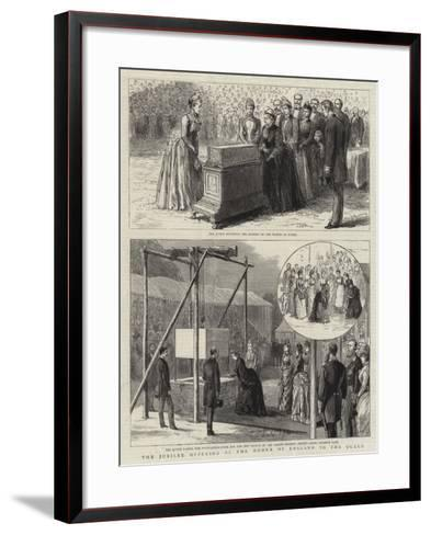 The Jubilee Offering of the Women of England to the Queen--Framed Art Print