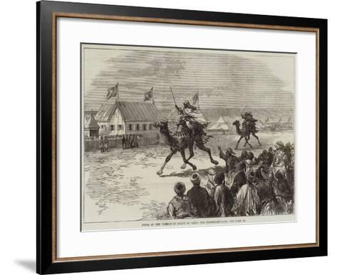Fetes of the Viceroy of Egypt at Cairo, the Dromedary-Race--Framed Art Print