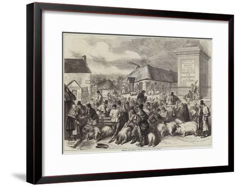 Sketches from Ireland, the Pig Fair at Trim, County Meath--Framed Art Print