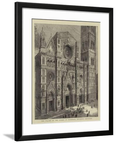 The Facade of the Duomo at Florence, Recently Restored--Framed Art Print
