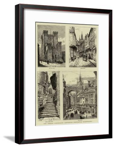 The George Stephenson Centenary, Newcastle Illustrated--Framed Art Print
