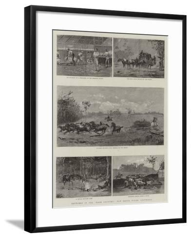 Sketches in the Back Country, New South Wales, Australia--Framed Art Print